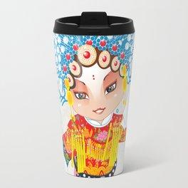 Beijing Opera Character SunShangXiang Travel Mug