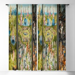 Hieronymus Bosch's The Garden of Earthly Delights Blackout Curtain