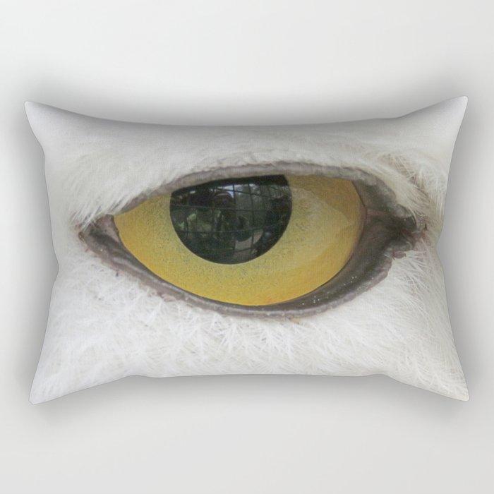 In the eye of a snow owl Rectangular Pillow