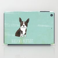 boston terrier iPad Cases featuring Boston Terrier by 52 Dogs
