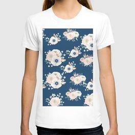 Dog Rose Pattern T-shirt