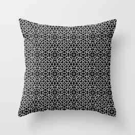 Lattice Grey Throw Pillow