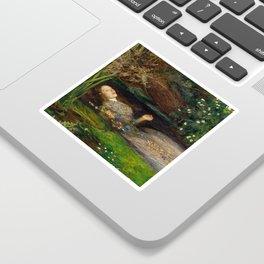 Ophelia, John Everett Millais Sticker