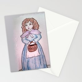 The Girl with the Basket Stationery Cards