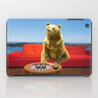 bleach iPad Cases featuring Bleach Blonde Bear by Bemular