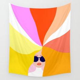 Girl Power - Rainbow Hair #girlpower Wall Tapestry
