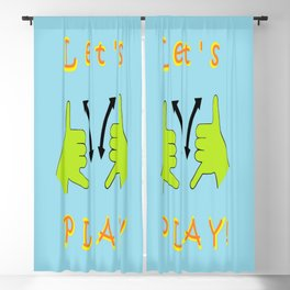 ASL Let's PLAY! Blackout Curtain