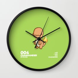 004 Charmander Wall Clock