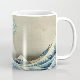 The Classic Japanese Great Wave off Kanagawa Print by Hokusai Coffee Mug