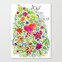 Joy in Your Smile Canvas Print