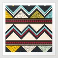 Triangles Aztec Art Print
