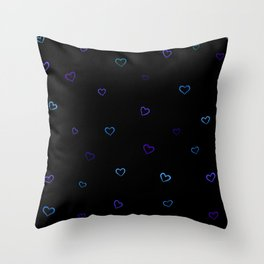Blue hearts Throw Pillow