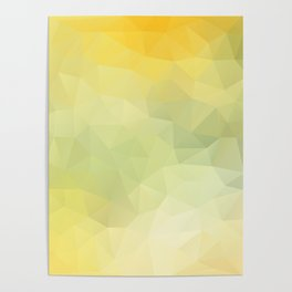 """""""Sunray in the water"""" triangles design Poster"""