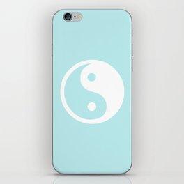 Turquoise Aqua Blue Harmony Yin Yang iPhone Skin