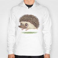 hedgehog Hoodies featuring Hedgehog by Toru Sanogawa