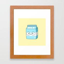Kawaii Milk Framed Art Print