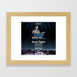 PAUL SIMON BRITISH SUMMER TIME TOUR DATES 2019 KAMBOJA Framed Art Print