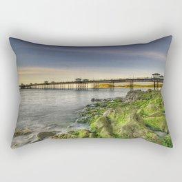 Pier Sunset Rectangular Pillow