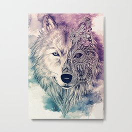 Wolf artwork Metal Print