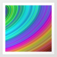 rainbow Art Prints featuring Rainbow by Mandala Magic & Colorful Creations by Da
