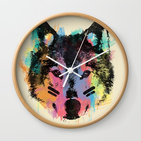 Wolf Child Wall Clock