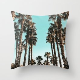 Palm Tree Days {1 of 2} Tropical Cali Art Print Throw Pillow