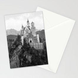 Black and White Neuschwanstein Castle Stationery Cards