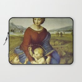 Madonna of the Meadows by Raphael Laptop Sleeve