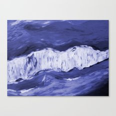 Paint 6 abstract water ocean arctic iceberg nature ocean sea abstract art drip waterfall minimal  Canvas Print