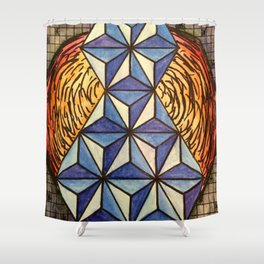Geo Space Shower Curtain