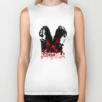 rick grimes Biker Tanks featuring Daryl Dixon and Rick Grimes by artandawesome