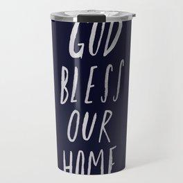 God Bless Our Home x Navy Travel Mug