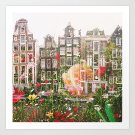 Flowers in Amsterdam Art Print