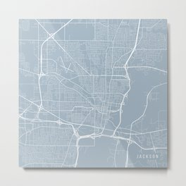 Jackson Map, USA - Slate Metal Print