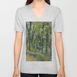 """Paul Cezanne """"The Orchard. La côte Saint-Denis à Pontoise"""" Unisex V-Neck"""