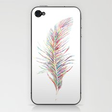 Rainbow Feather  iPhone & iPod Skin