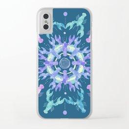 Lobster Mandala Clear iPhone Case