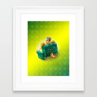 sofa Framed Art Prints featuring Family sofa by Bakal Evgeny