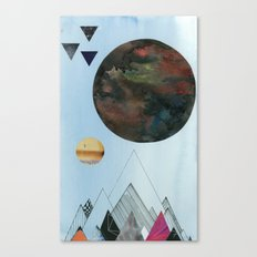 Moons and Mountains Canvas Print