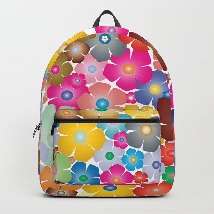 Cute Colorful Floral Pattern - Flowers for Life Backpack