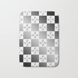 Pussy Checkerboard Abstract Bath Mat
