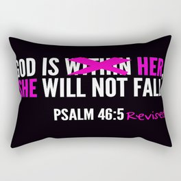 God is Within Her Revised  Rectangular Pillow