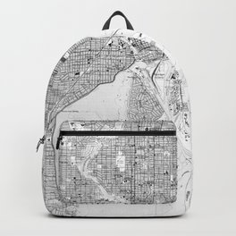 Vintage Map of Tampa Florida (1944) BW Backpack