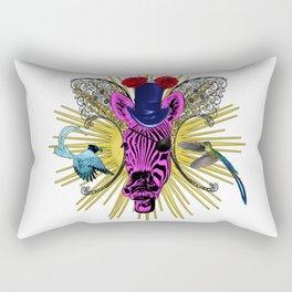 Laughimg zebra trophy head Rectangular Pillow