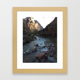 what I love most about rivers is Framed Art Print