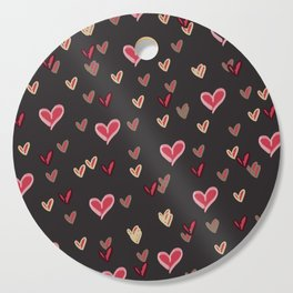 Abstract heart pattern 13 Cutting Board