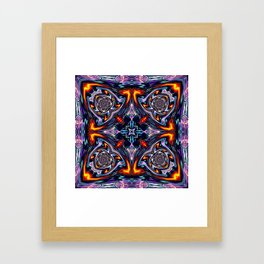 Fire Grid Framed Art Print