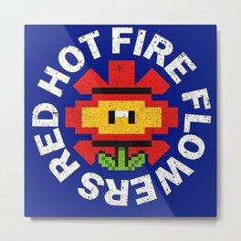 Fire Flower - 16bit Metal Print