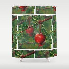 Tudor Pomegranate Tree Shower Curtain