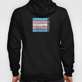 Gay Pride LGBT Transgender Distressed Stripe design Hoody